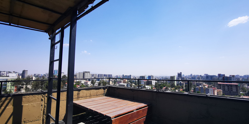 Hotel with beautiful view of the capital of Ethiopia, Addis Ababa